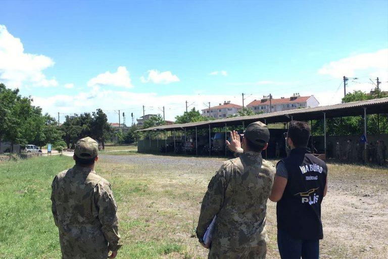 Polisten askere drone eğitimi