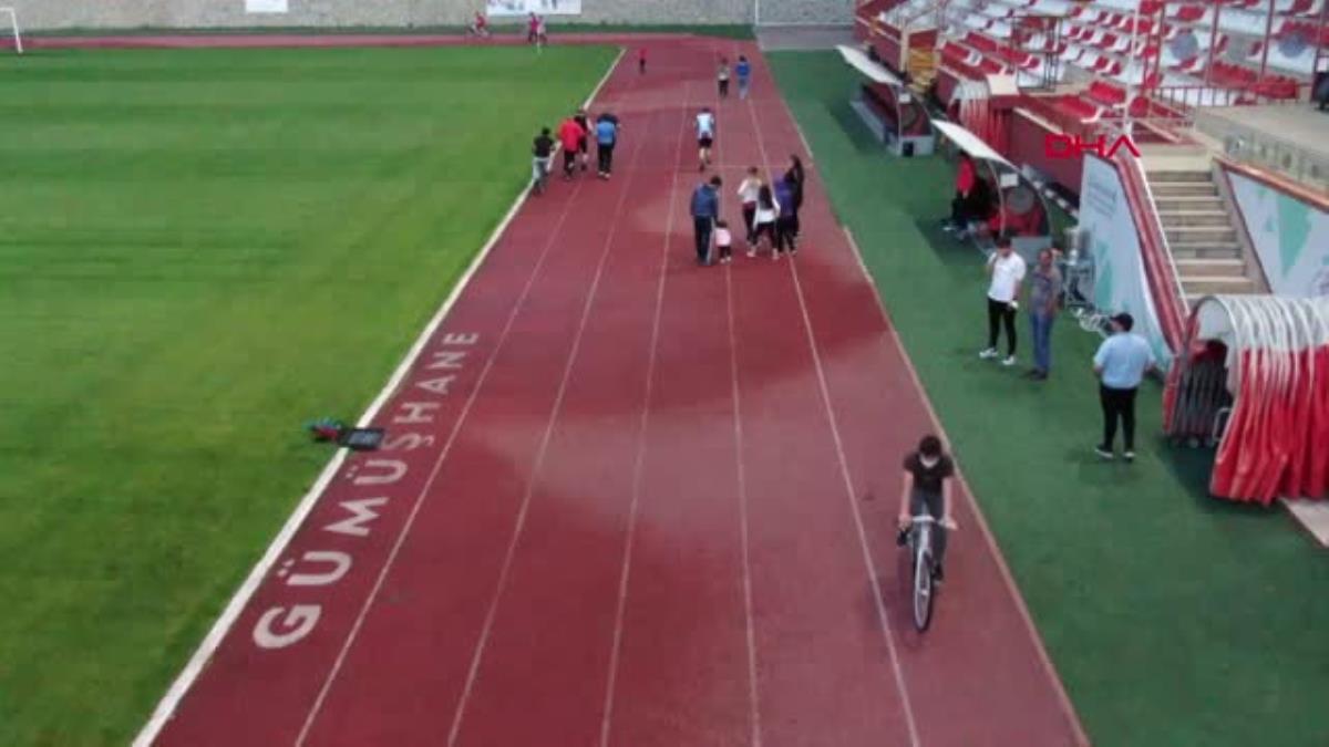 SPOR Gümüşhane de stadyum spor için halka açıldı