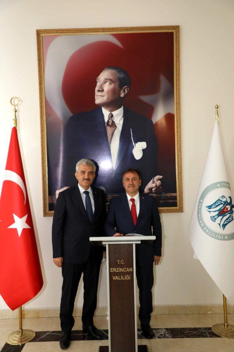 Gümüşhane Belediye Başkanı Sayın Ercan Çimen, Sayın Valimizi makamında ziyaret etti