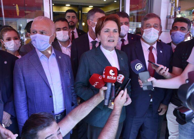 İYİ Parti Genel Başkanı Akşener, Gümüşhane de esnaf ziyaretinde konuştu Açıklaması