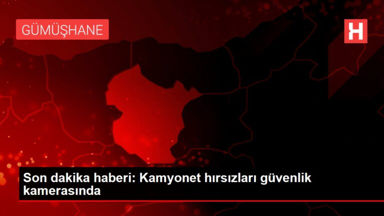 Son dakika haberi: Kamyonet hırsızları güvenlik kamerasında